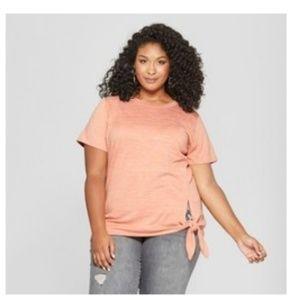 Ava & Viv Size 4X Pink Side Knot Shirt